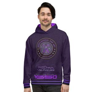on sale Valazquez  Purple Unisex Hoodie by Neoclassical pop art online pop art gift shop