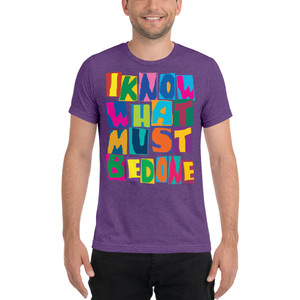 On Sale Spiritual 'I know what Must Be Done ' Short sleeve t-shirt by Neoclassical Pop Art