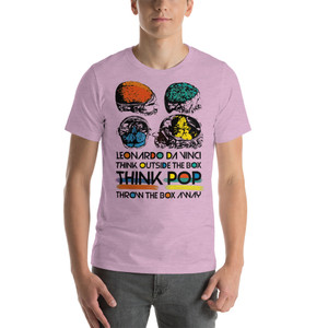 on sale  collectible Da Vinci Think Outside the Box Short-Sleeve Unisex T-shirt by neoclassical pop art online pop art gift store