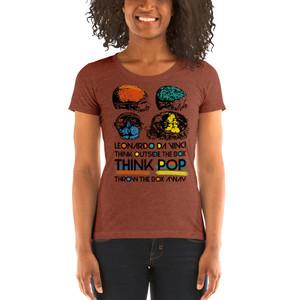 on sale Da Vinci Look Outside the Box Ladies' short sleeve t-shirt by Neoclassical Pop Art