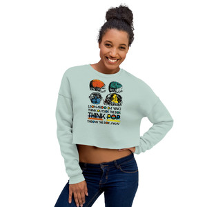 On sale Da Vinci  Think Outside the Box Crop Sweatshirt by Neoclassical pop art online  pop art fashion store