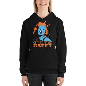 on sale Marilyn Monroe Choose to Be Happy hip hop Unisex hoodie by Neoclassical Pop Art
