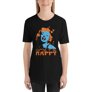 On sale Marilyn Monroe Choose to Be Happy Short-Sleeve Unisex T-Shirt by Neoclassical Pop Art