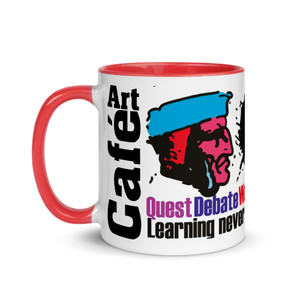 Leonardo da vinci quote 'learning never exhaust the mind' mug by Neoclassical Pop Art
