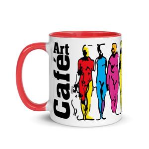 Leonardo da Vinci colourful teachers mug by Neoclassical Pop Art