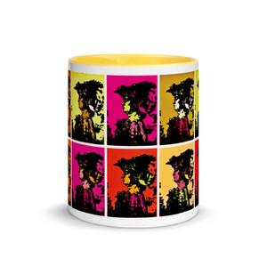 Leonardo da Vinci and Andy Warhol best neoclassical pop art mug by Neoclassical Pop Art