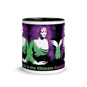 Buy online the Best Leonardo da Vinci Novelty neoclassical pop art purple green Coffee Mugs by BWM Neoclassical Pop Art