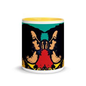 Sandro botticelli  girls green blue yellow neoclassical pop art mug byNeoclassical Pop Art