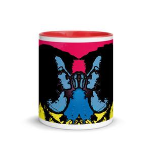 The best Sandro botticelli yellow blue neoclassical pop art mug byNeoclassical Pop Art