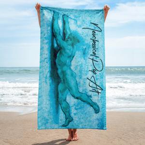 On sale Sir Peter Paul Rubens light blue Neoclassical pop art brown luxury designer  high quality beach towels by Neoclassical Pop Art