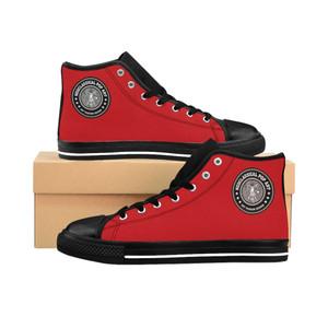 buy online Da Vinci Red Women's High-top Sneakers by neoclassical pop art designer brand store