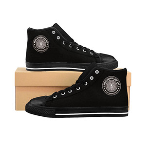 buy Da Vinci Men's High-top black fashion designer cool Sneakers by Neoclassical Pop Art fashion designer online brand store