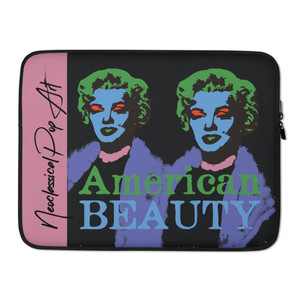 on sale  Hollywood star, Marilyn Monroe green Purple light pink Colorful designer Laptop Sleeve by Neoclassical Pop Art Online Brand online store