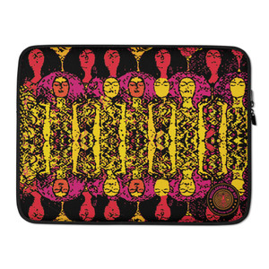 "on sale Colorful  yellow orange pink Gustav Klimt Beethoven Frieze""  designer Laptop Sleeve by Neoclassical Pop Art Online Brand online store"