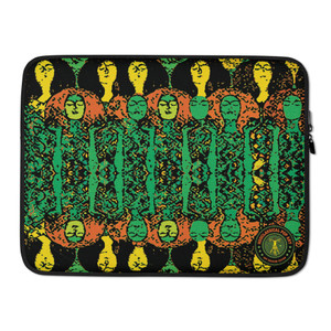 "on sale Gustav Klimt Beethoven Frieze"" Colorful green orange yellow trendy designer Laptop Sleeve by Neoclassical Pop Art Online Brand online store"