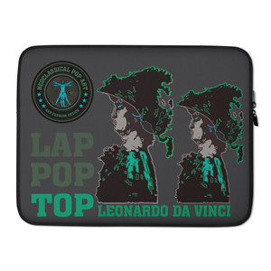 on sale cool Leonardo da Vinci Army green Alexander the Great designer Laptop Sleeve by Neoclassical Pop Art Online Brand online store