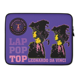 on sale cool Leonardo da Vinci purple yellow pink Alexander the Great designer Laptop Sleeve by Neoclassical Pop Art Online Brand online store