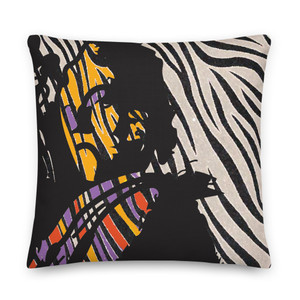 On sale Sandro Botticelli Self Portrait Throw Pillow Black and White Zebra Décor by Neoclassical Pop Art  online brand store