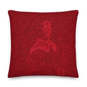 On sale Velazquez Portrait red Premium decorative throw pillow Pillow by Neoclassical Pop Art designer online art fashion and design brand store