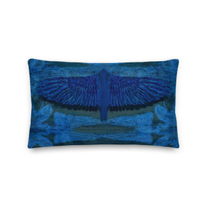 """Om sale Leonardo Da Vinci Rectangular Blue Bird Accent Pillows """"I Believe I can fly"""" by  Neoclassical Pop Art online brand designer store selling Old Masters accent pillows Collection"""