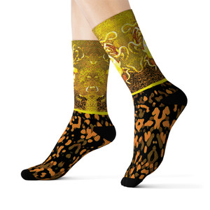 on sale Collectible Caravaggio Medusa collectible  funky Sublimation art Socks by Neoclassical Pop Art online brand store