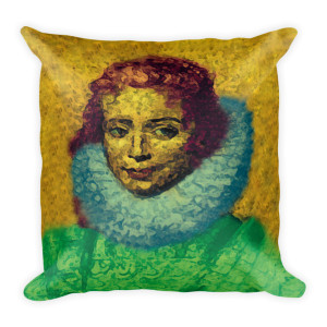 The best Rubens  child drawing Clara Neoclassical Pop Art Colorful Throw Pillow