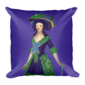 Francisco Goya Neoclassical Pop Art purple and green  decorative pillows by Neoclassical Pop Art
