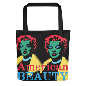 Yellow red green blue  Marilyn Monroe American Beauty Tote Bag for sale online and da vinci neoclassical pop art vitruvian man for sale online