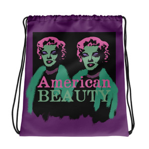 sexy Marilyn Monroe American Beauty pink green purple Neoclassical Pop Art cool Drawstring bag