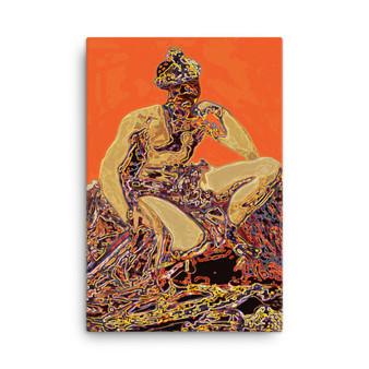 On Sale  Velazquez Mars Wonders in Orange Print on Canvas by Neoclassical Pop Art