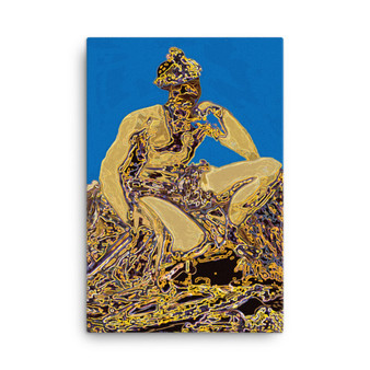 On Sale  Velazquez Mars Wonder in Blue Print on Canvas  by Neoclassical Pop Art