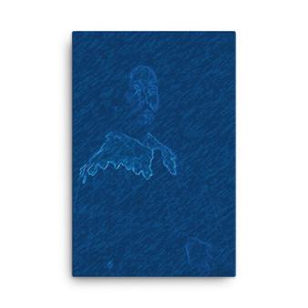On Sale Velazquez Don Joan Portrait Blue Print on Canvas by Neoclassical Pop Art