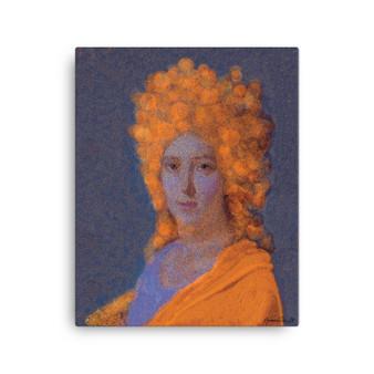 On Sale Jacques-Louis David Orange Purple Oil  on Canvas by Neoclassical Pop Art