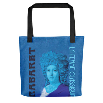 Jacques-Louis David Neoclassical pop art Paris 1790 Cabaret blue Tote bag on sale online for woman and man