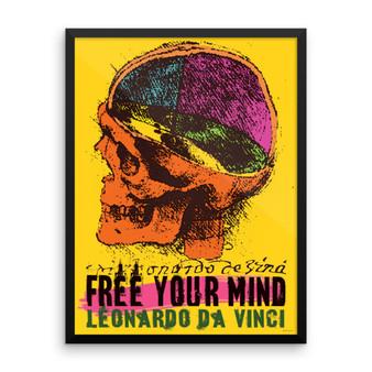 Da Vinci   Free Your Mind Framed Print on Paper