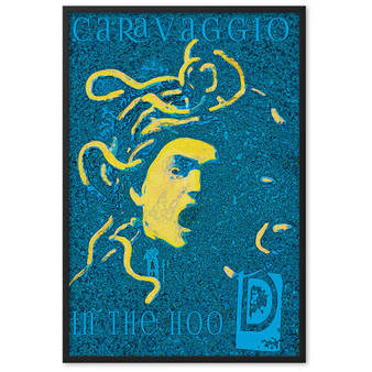 On Sale Caravaggio Medusa Blue Yellow Framed poster by Neoclassical Pop Art