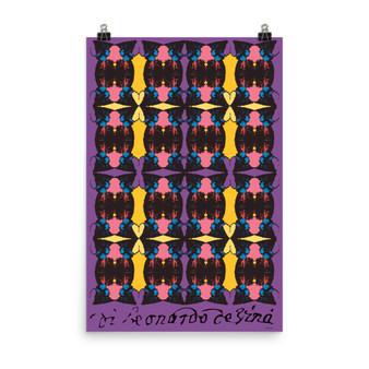 On Sale Da Vinci  Alexander the Great Purple Yellow Pink Pop by Neoclassical Pop Art