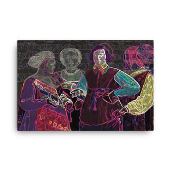 George De la Tour Gypsy Fortune Teller Oil on Canvas by Neoclassical Pop Art