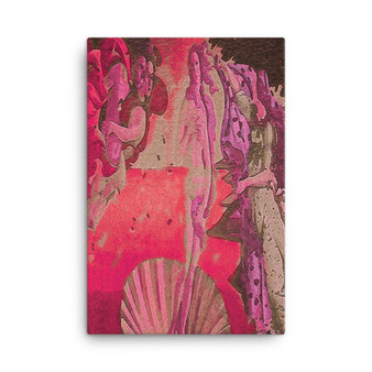 On Sale  Botticelli The Birth of Venus Red Pink Oil on Canvas by Neoclassical Pop Art