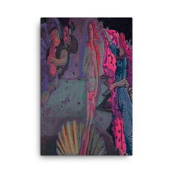 On Sale  Botticelli The Birth of Venus  Pink Purple Pop Print on Canvas by Neoclassical Pop Art