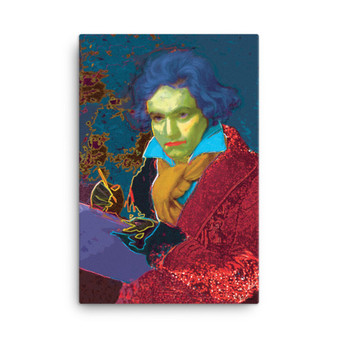 Beethoven Ludwig van oil on canvas Red Blue Yellow Missa  pop portrait Print On Canvas by  Neoclassical Pop Art