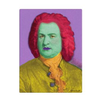 On Sale  Johann Sebastian Bach Lilac Red Yellow Baroque POP Portrait by Neoclassical Pop Art