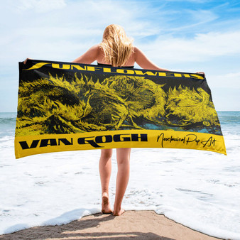 Vincent Van Gogh sunflowers  high quality towel.