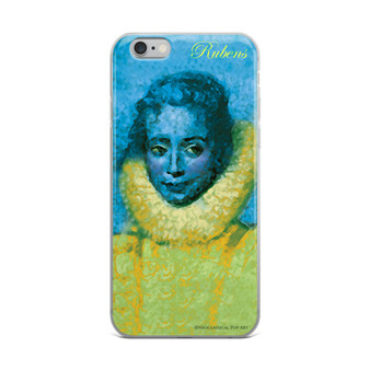 Rubens clara serena child portrait yellow blue neoclassical pop art iphone cases