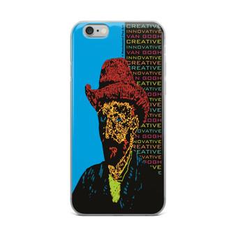 Neoclassical pop art van gogh Orange Hat on Blue Self Portrait fine art collectible iphone cases