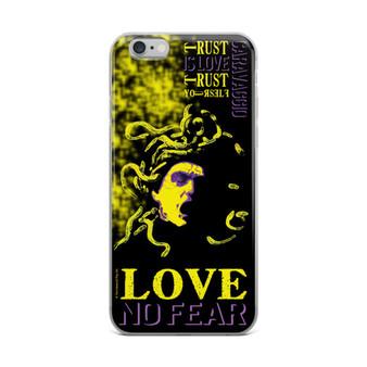 Neoclassical pop art Cravaggio Yellow Medusa iphone case for sale