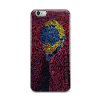 Van Gogh pink blue yellow Neoclassical pop art self Portrait unique iPhone case for sale by Neoclassical Pop Art