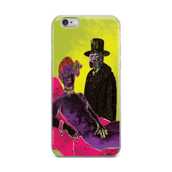 Eduard Manet Olympia Yellow Pink Purple iPhone case by Neoclassical Pop Art