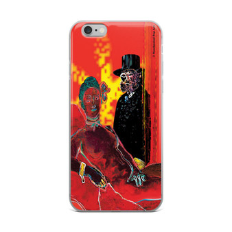 Eduard Manet Red Hot Olympia iPhone Case by Neoclassical pop art