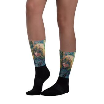 Camil Pissarro art socks by Neoclassical pop art Museum fun socks  by Neoclassical Pop Art online brand store